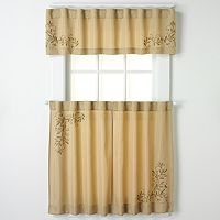 CHF & You Scroll Leaf Tier Kitchen Curtains