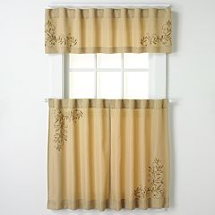 CHF & You Scroll Leaf Tier Kitchen Window Curtains
