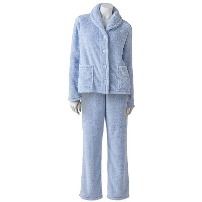 Croft and Barrow Plush Pajama Separates - Women's Plus