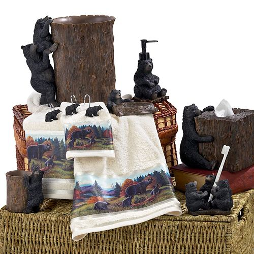 avanti black bear lodge bathroom accessories collection - Bathroom Accessories Kohl S