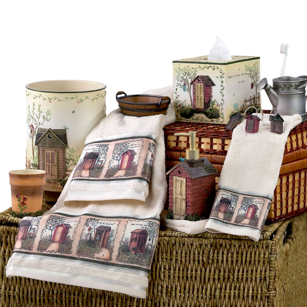 Outhouses Shower Curtain And Bath Accessory Sets By Avanti ...