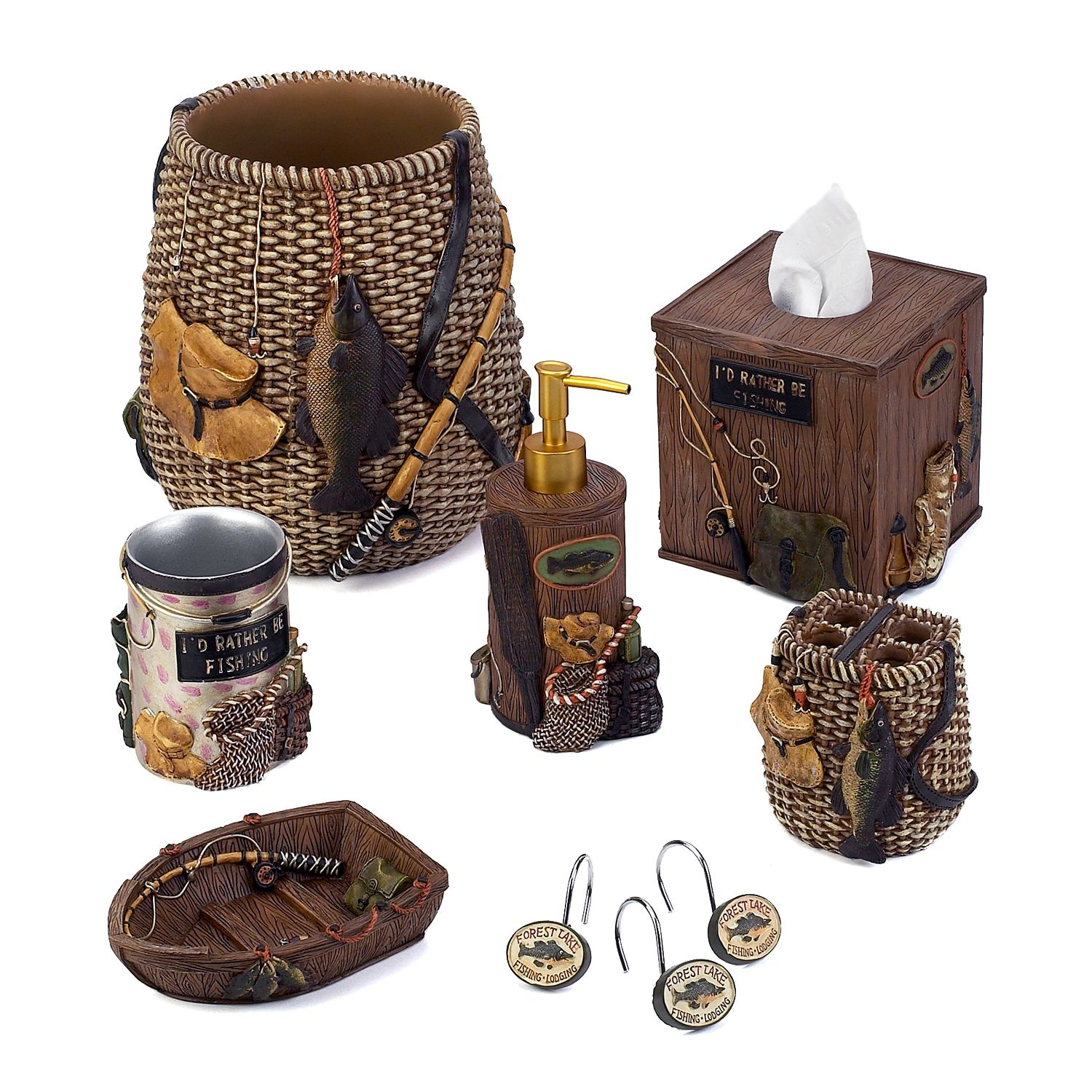 Merveilleux Avanti Rather Be Fishing Bathroom Accessories Collection