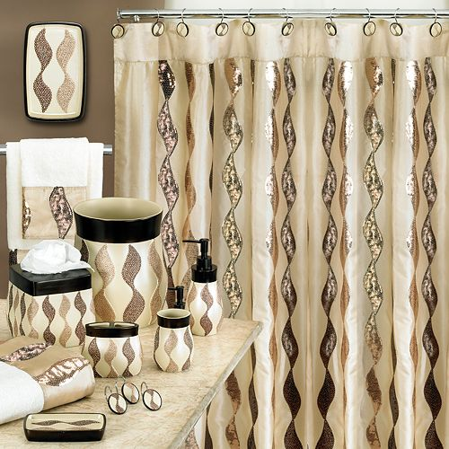 Shower Curtains bathroom ensembles shower curtains : Bath Shimmer Bathroom Accessories Collection