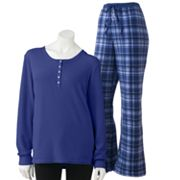 Croft and Barrow Microfleece Pajama Separates