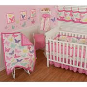 Sumersault Butterfly Block Crib Set