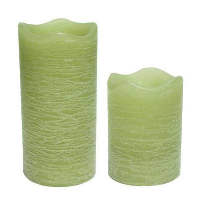 Inglow Citrus Sage Flameless LED Rustic Pillar Candles