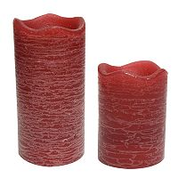 <p>Inglow Pomegranate Flameless LED Rustic Pillar Candles</p>