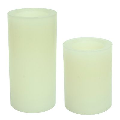 Inglow Vanilla Flameless LED Rustic Pillar Candles