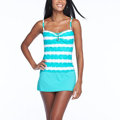 Chaps Ikat Stripe Swim Separates