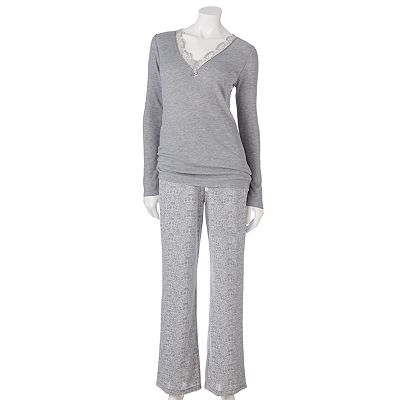 Croft and Barrow Sweet Allure Pajama Separates - Women's Plus