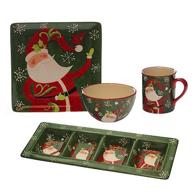 Certified International Winter Fun Santa Dinnerware Collection