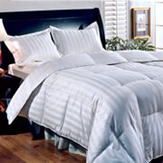 Royal Majesty Damask Striped Duck Down Comforter