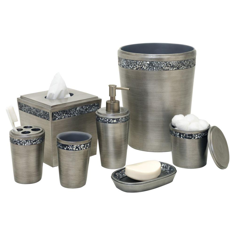 grey wastebaskets bath accessories - bathroom, bed & bath | kohl's