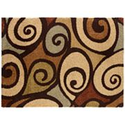 KHL Rugs Fashion Shag Scroll Rug
