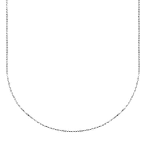 Silver-Bonded Rope Chain Necklace