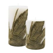 SONOMA life + style Bamboo Palm Pillar Candles