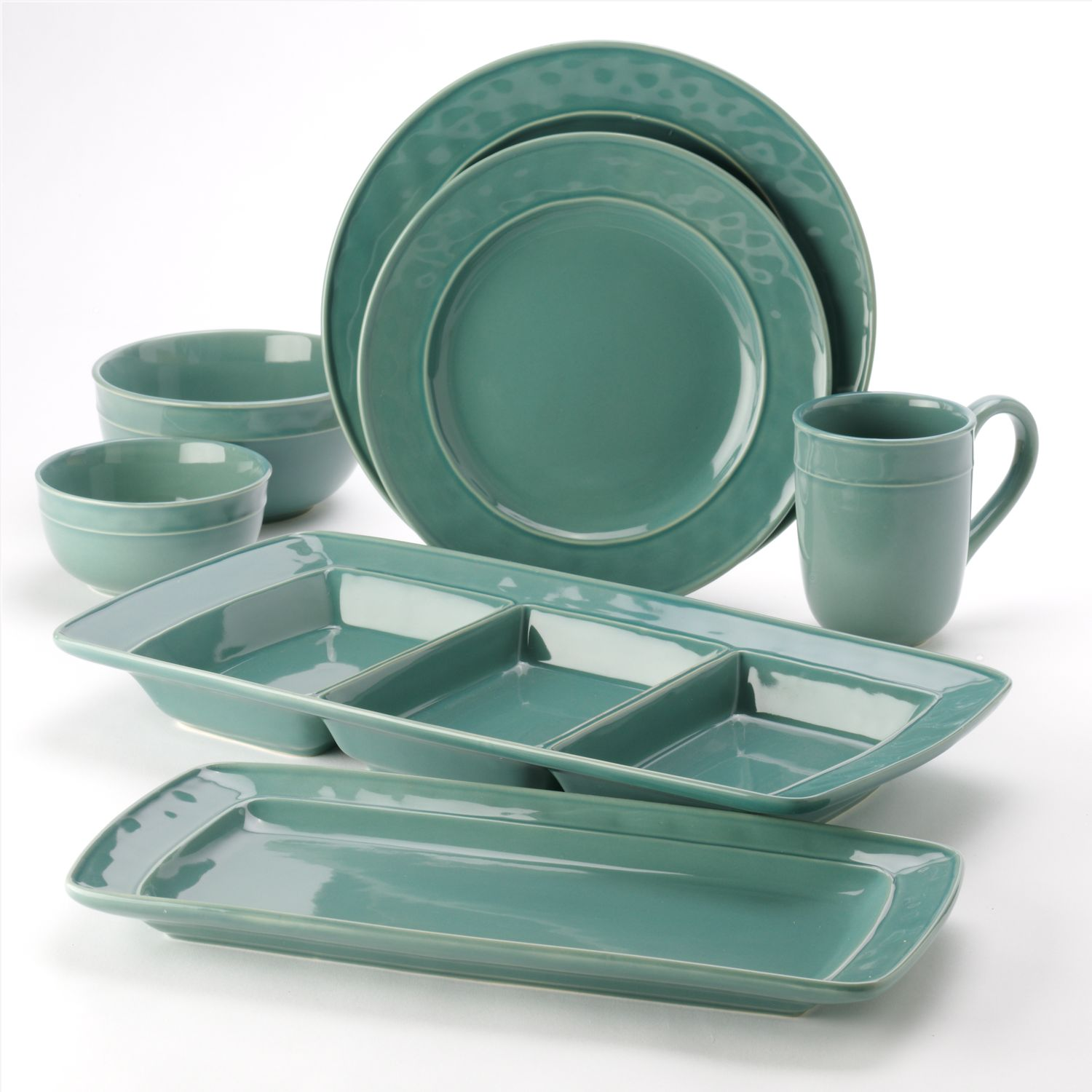 Food Network Fontina Blue Dinnerware Collection
