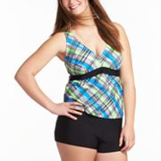 SO Plaid Swim Separates - Juniors' Plus