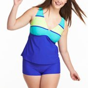 SO Colorblock Swim Separates - Juniors' Plus