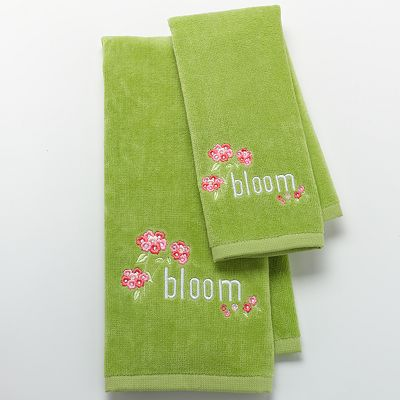 Croft and Barrow Spring Floral Bloom Bath Towels