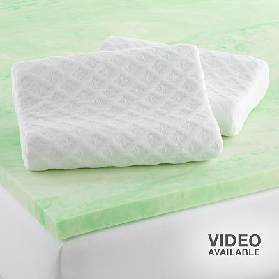 Cameo 2-in. Gel Memory Foam Mattress Topper and Contour Pillow