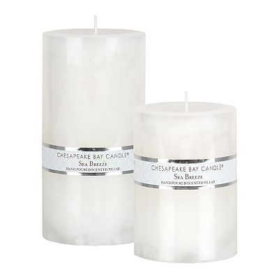 Sea Breeze Pillar Candles