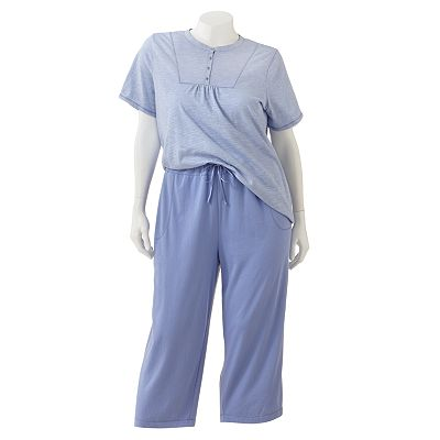 Croft and Barrow Action Packed Pajama Separates - Women's Plus