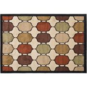 Orian Collection Hourglass Indoor Outdoor Patio Rug