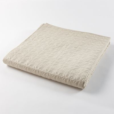 Simply Vera Vera Wang Plaza 300-Thread Count Quilted Sateen Coverlet