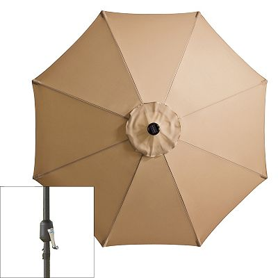 SONOMA outdoors Crank and Tilt Solar LED Patio Umbrella
