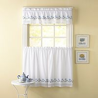 CHF Leighton Tailored Tier Kitchen Window Curtains