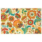 Shaw Living Al Fresco Floral Indoor Outdoor Patio Rug
