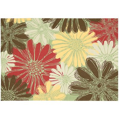 Nourison Home and Garden Daisy Indoor Outdoor Patio Rug