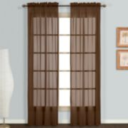 United Curtain Co. Monte Carlo Voile Window Panel Pair