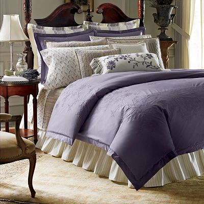 Chaps Home Emma Collection Purple Queen Duvet Only Ebay