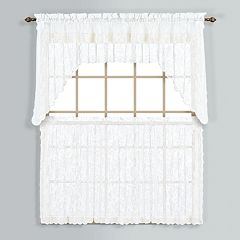 United Curtain Co. Windsor Swag Tier Kitchen Window Curtains