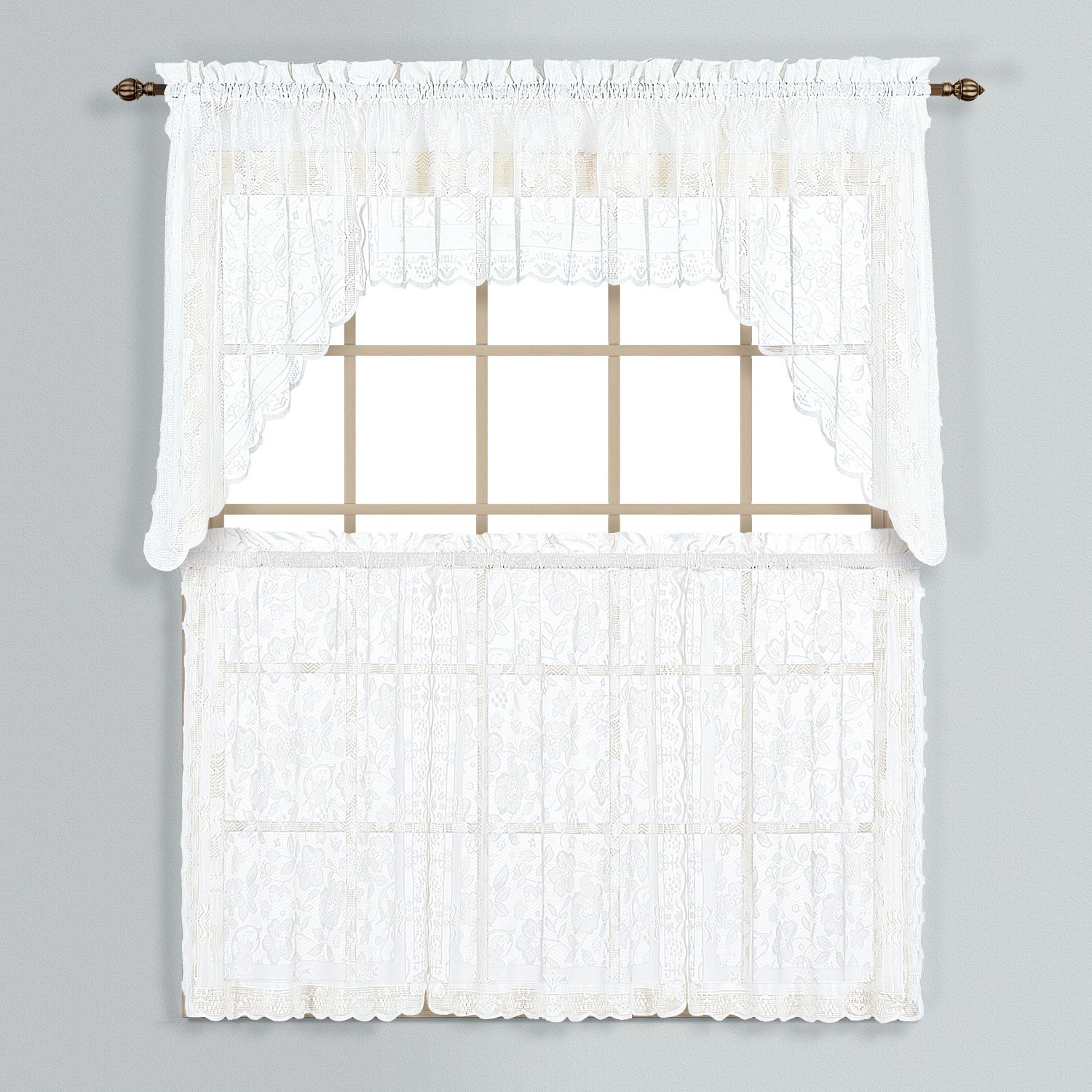 Windsor Swag Tier Kitchen Window Curtains