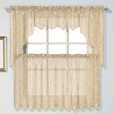 United Curtain Co. Savannah Swag Tier Kitchen Curtains