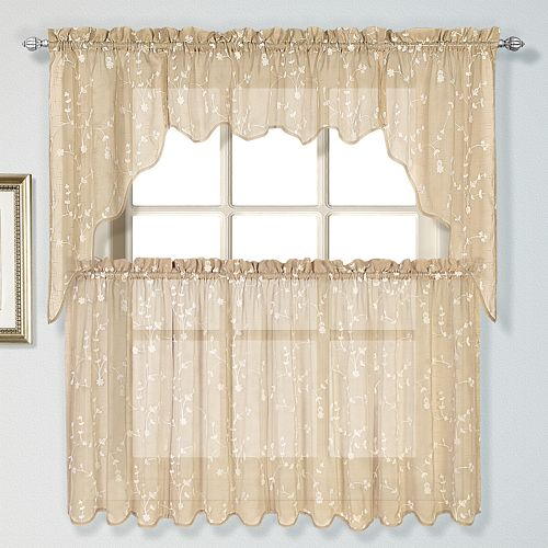 Curtain Co. Savannah Swag Tier Kitchen Window Curtains