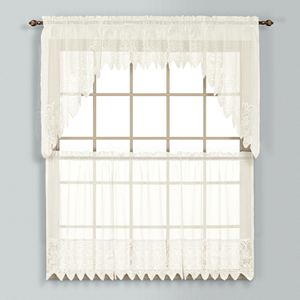 United Curtain Co. Valerie Swag Tier Kitchen Window Curtains