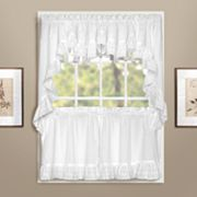 United Curtain Co. Vienna Eyelet Swag Tier Kitchen Curtains