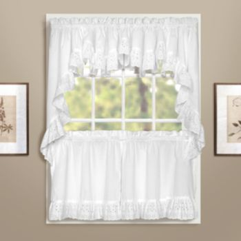 United Curtain Co. Windsor Swag Tier Kitchen Curtains