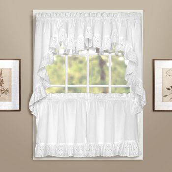 United Curtain Co Windsor Swag Tier Kitchen Curtains