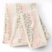 Apt. 9 Trace Striped Leaf Bath Towels