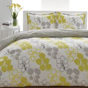 City Scene Pressed Flower Duvet Cover Set