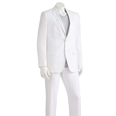 Marc Anthony Solid Linen Suit Separates
