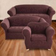 Sure Fit Stretch Jacquard Damask Slipcovers