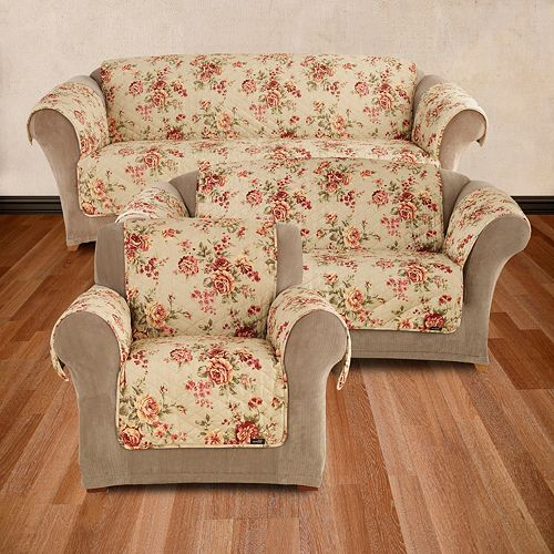 Stupendous Sure Fit Lexington Floral Slipcovers Ncnpc Chair Design For Home Ncnpcorg