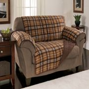 Reversible Plaid Fleece Furniture Protector