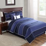 Home Classics Ryder Blue 7-pc. Comforter Set
